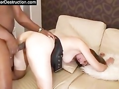 young cutie monsterfucked in her face hole and