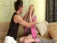 legal age teenager unbuttons her lover&#734 s
