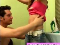 lewd euro teen s garb and fondled