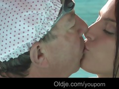 wicked redhead teeny engulf old schlong in the