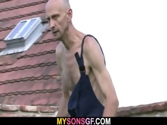 slutty gf cheats outdoors with her bfs daddy