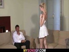 ravishing young golden-haired falls for her