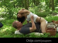old guy meals and copulates with hot teeny in the