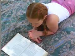 pigtailed redhead babysitter kitty bonks the daddy
