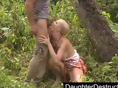 dad daughter outdoor