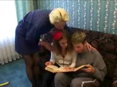 russian family gets it is on