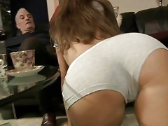 old guy pumps mikas youthful booty hole