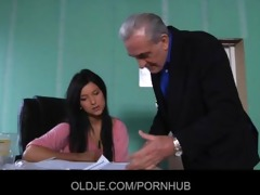 old teacher drilled in break by naughty katie