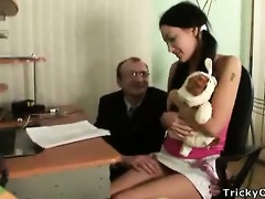 glamorous dark brown acquires drilled by her