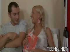 legal age teenager beauty receives an old knob