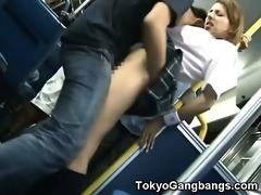 stranger bonks schoolgirl in public!