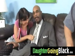 black monster copulates my daughter young pussy
