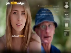 old farmer fellow gets screwed by blonde hottie