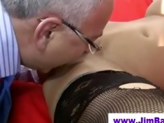 honey in nylons licked by old chap