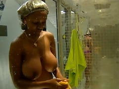 biggest tits: annabel large brother africa shower
