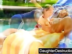 cute daughter drilled by ribald guy