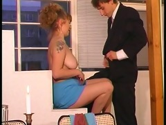 euro chick seduces younger boy - dbm movie scene