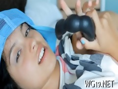 chick is exposing on cam