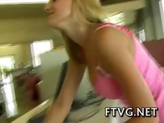 girl stimulates clitoris