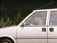 old chap with hooker in car