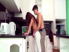 legal age teenager pussy is nailed well