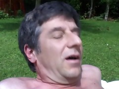 fucking a hottie with big mangos in my garden