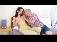miniature tittted cutie receives fucked by aged