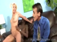 pretty blonde legal age teenager rides biggest