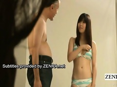 subtitle enf japanese bikini idol undresses in