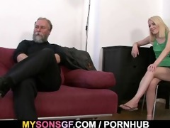she is acquires punished and rides his pecker