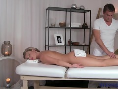 massage rooms lustful blond has her chocolate
