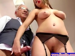 golden-haired euro women anal joy with old man