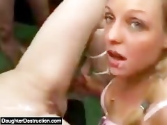 girl legal age teenager daughter widen her pussy
