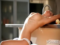 beauty plays with large vibrator