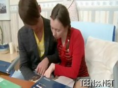 legal age teenager student fucks with tutor