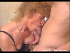 aged woman copulates a youthful boy