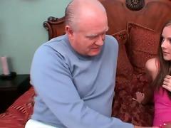 juvenile schoolgirl gived pervert old man oral