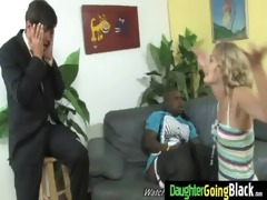 his teen daughter is curious about a large black