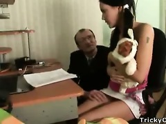 pretty brunette hair receives drilled by her