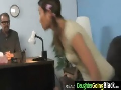 youthful daughter with wonderful arse drilled by