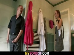 horny daddy licks and copulates son&#8119 s