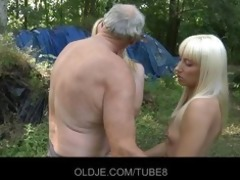 old woodcutter fucks lascivious blondes