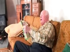 old man copulates the cleaning lady