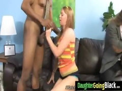 sexy juvenile daughter receive drilled hard by